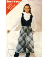 VTG BUTTERICK See & Sew 5117 Culotte and Vest 14-18 Uncut - $12.00
