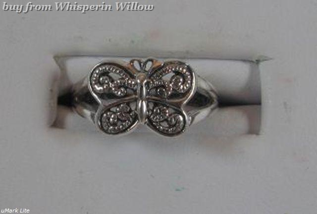 Oxidized Butterfly Toe Ring