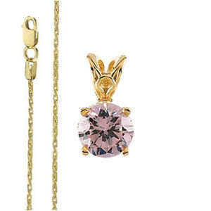 ROUND Diamond Solitaire Pendant Necklace 2.12 Ct F SI2(