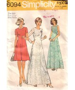 VTG SIMPLICITY 6094 Lace Dress in 2 Lengths Factory Folded  - $25.00