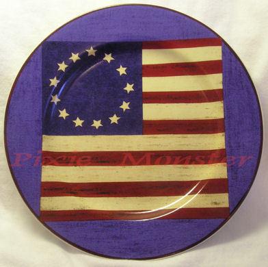 Sprit of the Flag Plates Warren Kimble Sakura Americana