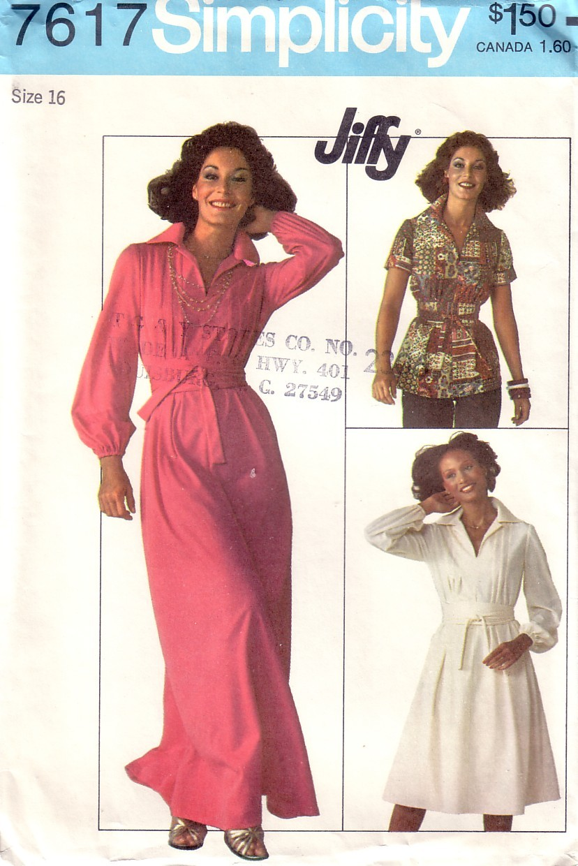 VTG SIMPLICITY 7617 Top and Dress 2 Lengths Factory Folded