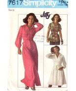 VTG SIMPLICITY 7617 Top and Dress 2 Lengths Factory Folded - $12.00
