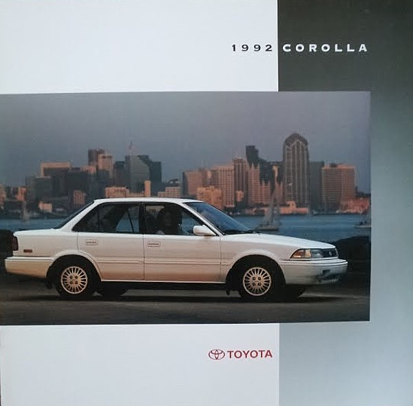 Primary image for 1992 Toyota COROLLA sales brochure catalog US 92 Deluxe LE All-Trac