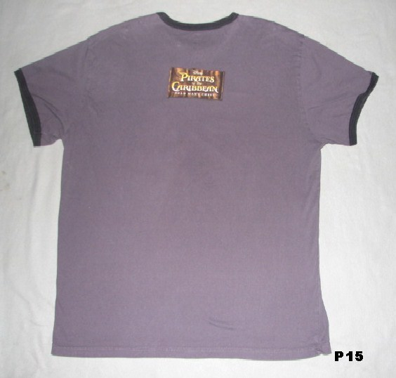 DISNEY Pirates of the Caribbean Charcoal Tee Shirt  Sz XL