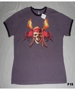 DISNEY Pirates of the Caribbean Charcoal Tee Sh... - $11.99