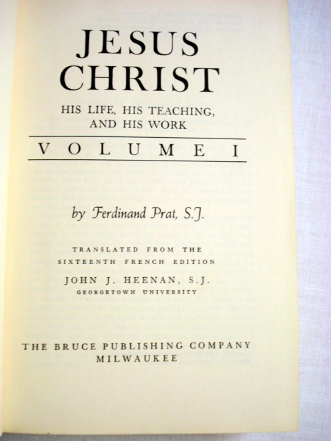 Jesus Christ His Life, Teaching, Work 1950 2 Vol Set