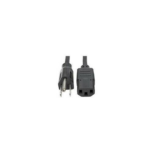 NEMA 5-15P to IEC-320-C13 Tripp Lite Heavy Duty Computer Power Cord 15A 12-ft. P007-012 14AWG