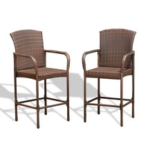 Set of Two Outdoor Rattan Wicker Bar Chairs - €127,00 EUR