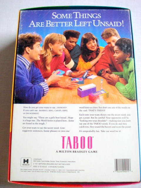 Taboo The Game of Unspeakable Fun 1989 MB Complete