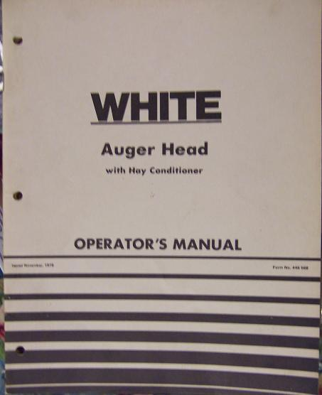 White 12 & 14-Foot Auger Heads for Self-Propelled Windrowers - Operator's Manual