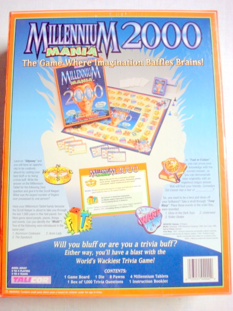 Millennium Mania 2000 Trivia Game by Talicor New Sealed