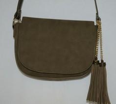 Amanda Blu Company Tassel Saddle Bag Purse 85137 Sage Color image 2