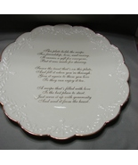 Lenox Large Porcelain Giving Plate New, No Box  - $20.00