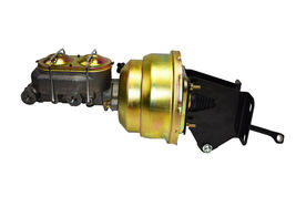 "74-86 Jeep CJ 8"" Dual Power Brake Booster Master Cylinder Prop Valve Disc/Disc image 3"