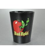 Bad Apfel Apple Schnapps Black Plastic Shot Glass Green Worm - $5.00