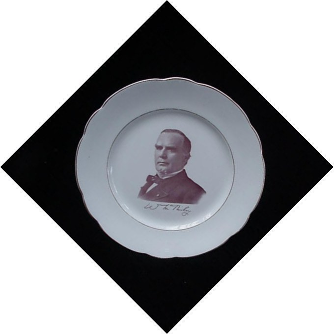 Antique President William McKinley Maddock Pottery Plate