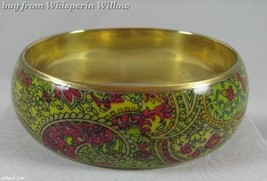 Bright Paisley Print Bangle Bracelet 1 - $12.95