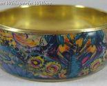 Bright paisley print gold bangle bracelet 3 thumb155 crop