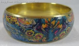 Bright Paisley Print  Design Bangle Bracelet  3 - $12.95