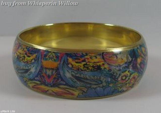 Bright Paisley Print  Design Bangle Bracelet  3