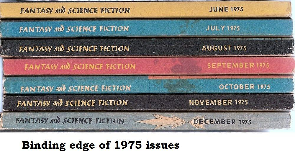 The Magazine of Fantasy and Science Fiction July 1975 back issue