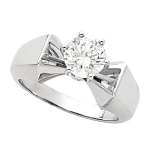 Round Diamond Engagement Ring 1.35 Ct I SI1 EGL Cert