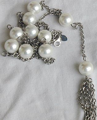 Mallorca silver necklace