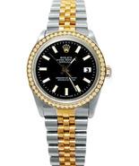 Black stick dial Rolex datejust watch diamond b... - $3,899.00