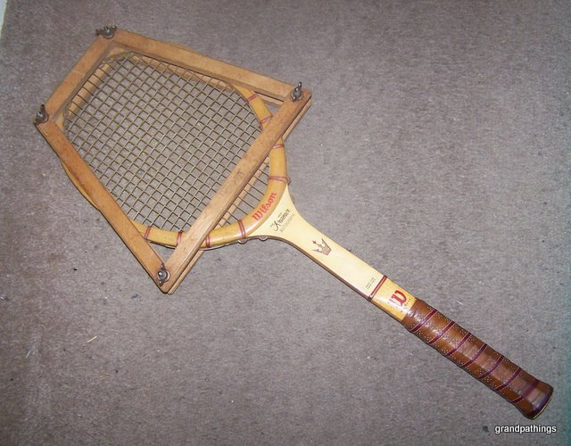 Antique Jack Kramer Autograph Wilson Wood Handle Tennis Racquet
