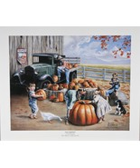 """Fall Harvest"" by Newell Boatman Offset Lithograph on Paper CoA 2010 LE ... - $44.54"