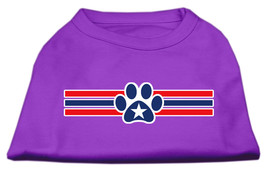 Patriotic Star Paw Screen Print Shirts Purple XS (8) - $11.98