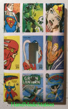 Comic Superhero USPS Stamps Light Switch Outlet wall Cover Plate Home Decor