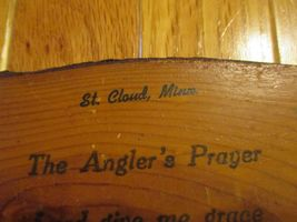 St Cloud Minnesota MN The Anglers Prayer Souvenir piece Wood image 3
