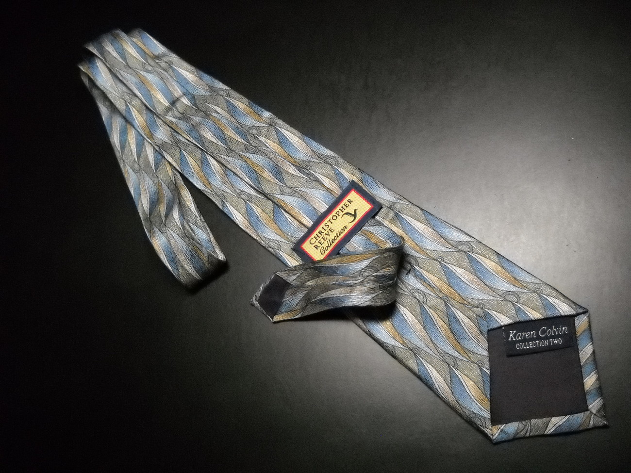 Christopher Reeves Neck Tie Collection Two Karen Colvin Blues Greens Browns
