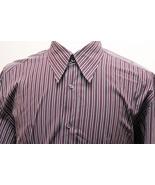 mens - Dolce & Gabbana Dress Shirt - 17/43 - Striped - French Cuff - Burgundy - $43.09