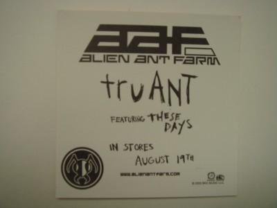 Alien Ant Farm Promo Poster Sticker Decal Set