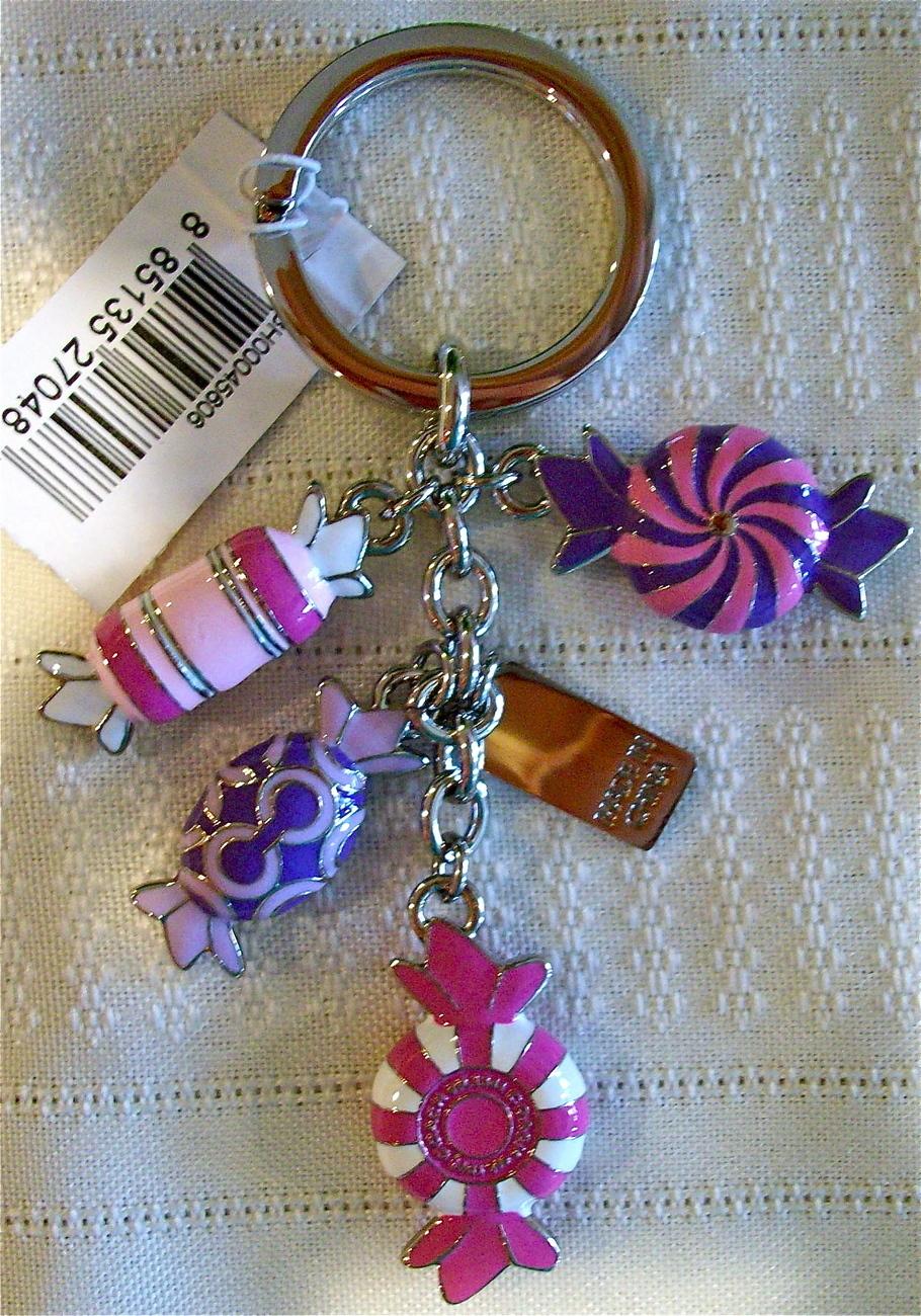 Coach Pop Poppy Candy Mix Keychain Key Fob 92800 NWT