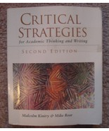 Critical Strategies for Academic Thinking and Writing - $5.00