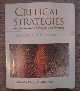 Critical Strategies for Academic Thinking and Writing