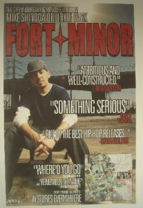Fort Minor Promo Poster Sticker Decal Set Linkin Park Mike Shinoda