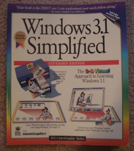 Windows 3.1 Simplified for Beginners 1994, Paperback