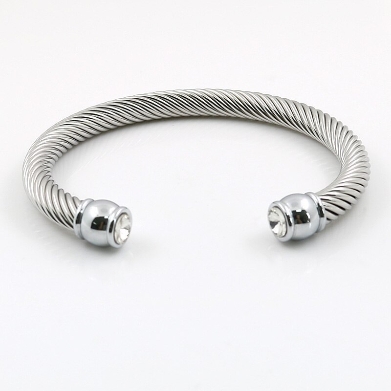 Primary image for MSX 2017 Hot Sale Elastic Charms Wire Stainless Steel Punk Twist Cuff Bracelets