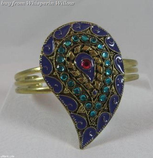 Multi gem paisley bracelet 1