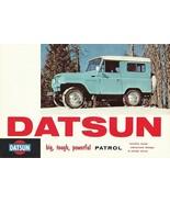 1966 DATSUN PATROL sales brochure folder Nissan 66 US - $15.00