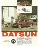1966 DATSUN WPL 411 wagon sales brochure sheet Nissan 1300 US 66 Bluebir... - $8.00