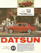1966 DATSUN PL 411 sedan sales brochure sheet Nissan 1300 US 66 Bluebird... - $8.00