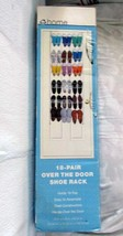 NIB 18 Pairs Metal Shoe Rack Organizer Hang Storage Closet Over The Door... - $544,04 MXN
