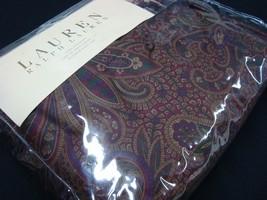 New Ralph Lauren Bohemian Paisley King Bedskirt NIP Wine Purple 1st Qual... - $129.99