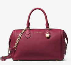 MICHAEL Michael Kors Grayson Leather Satchel in Mulberry - $237.59